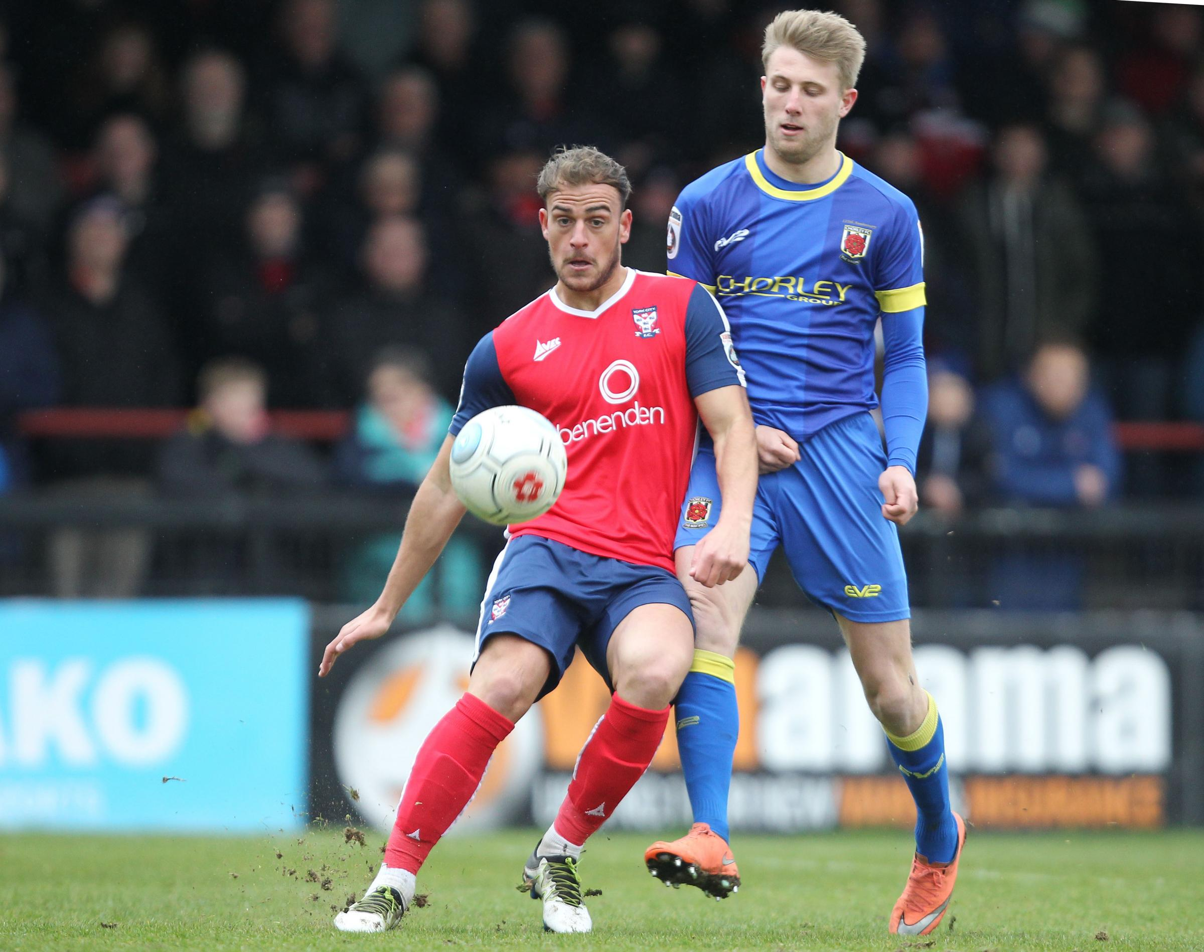 NEW SIGNING: Jonny Burn, pictured last season playing for York City, has signed for Darlington. Picture: GORDON CLAYTON