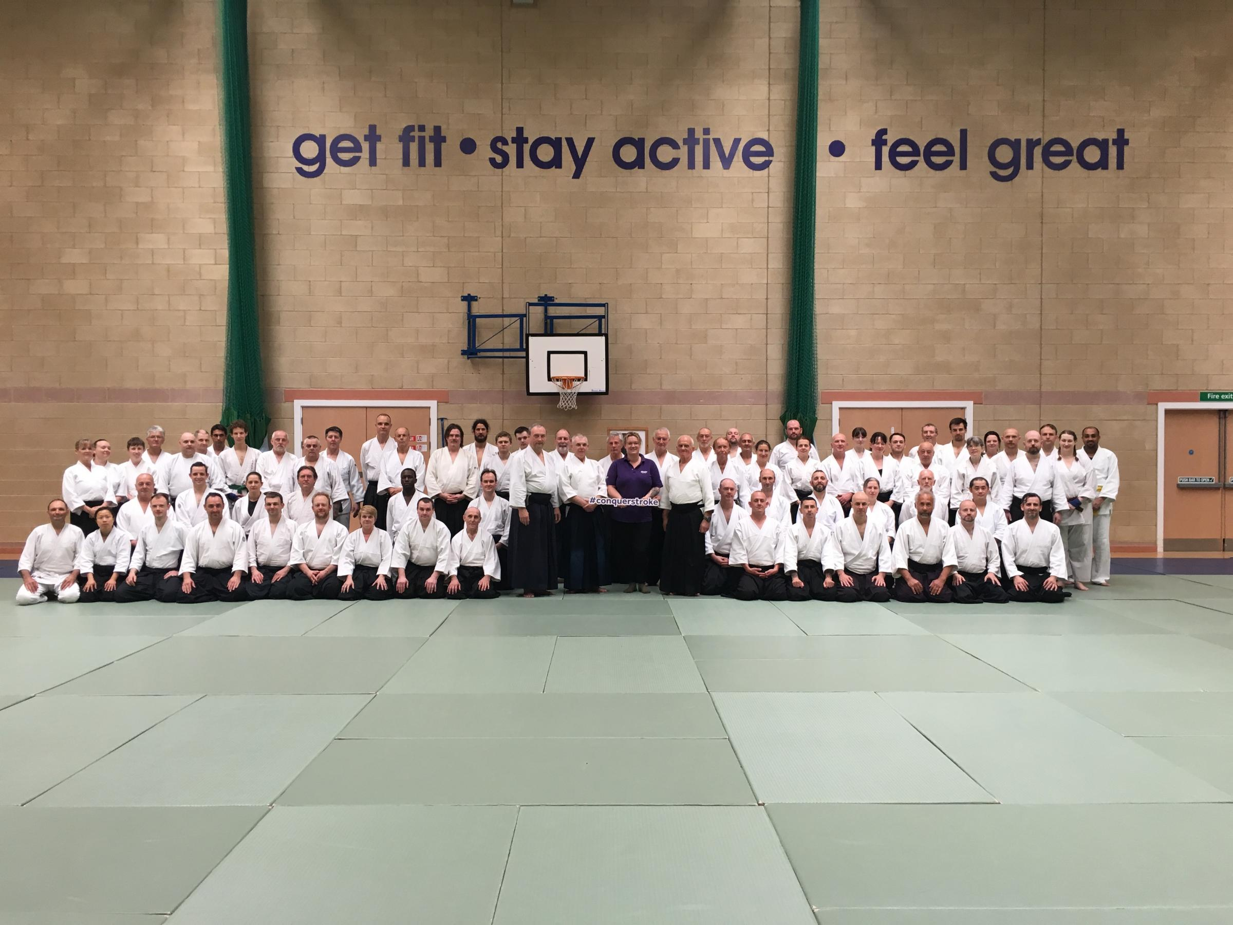 FOR CHARITY: Dynamic Aikido Nocquet (DAN) hosted the Joint Aikikai Council (JAC) annual event and handed over the £650 raised for the Stroke Association