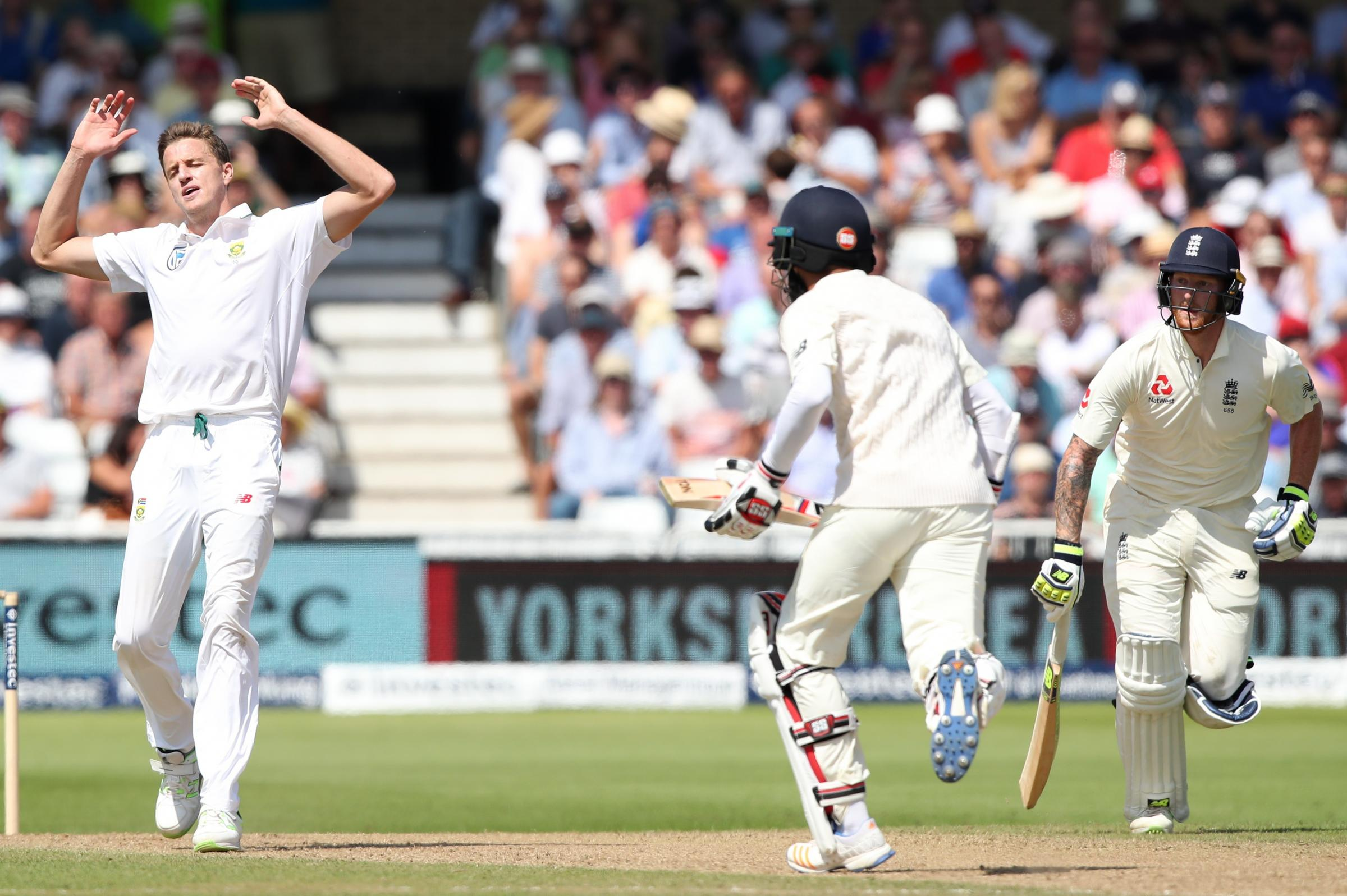 South Africa's Morne Morkel in action against England at Trent Bridge