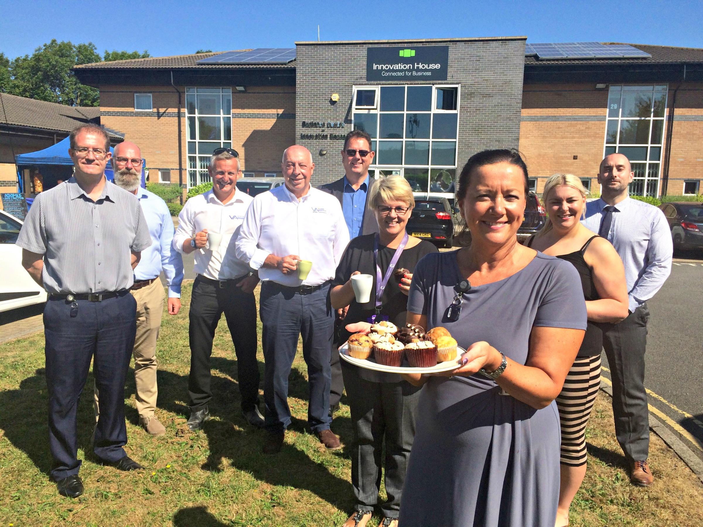 FUNDRAISER: Businesses at Innovation House, Bishop Auckland, marked Armed Forces Day with a coffee morning, organised by the centre's landlords South Durham Enterprise Agency