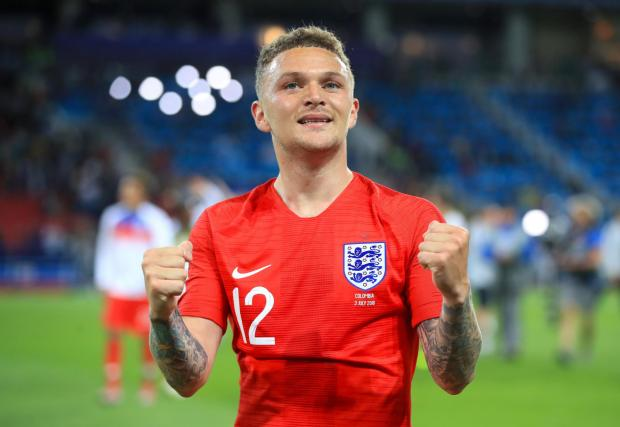 The Northern Echo: Kieran Trippier celebrates after England reached the World Cup quarter-final