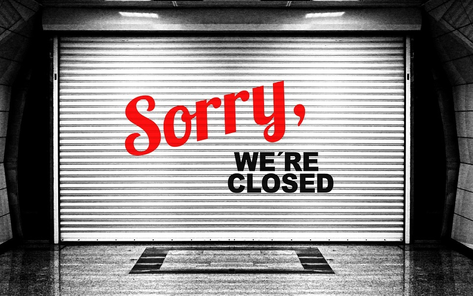 Closed sign. Picture: Pixabay