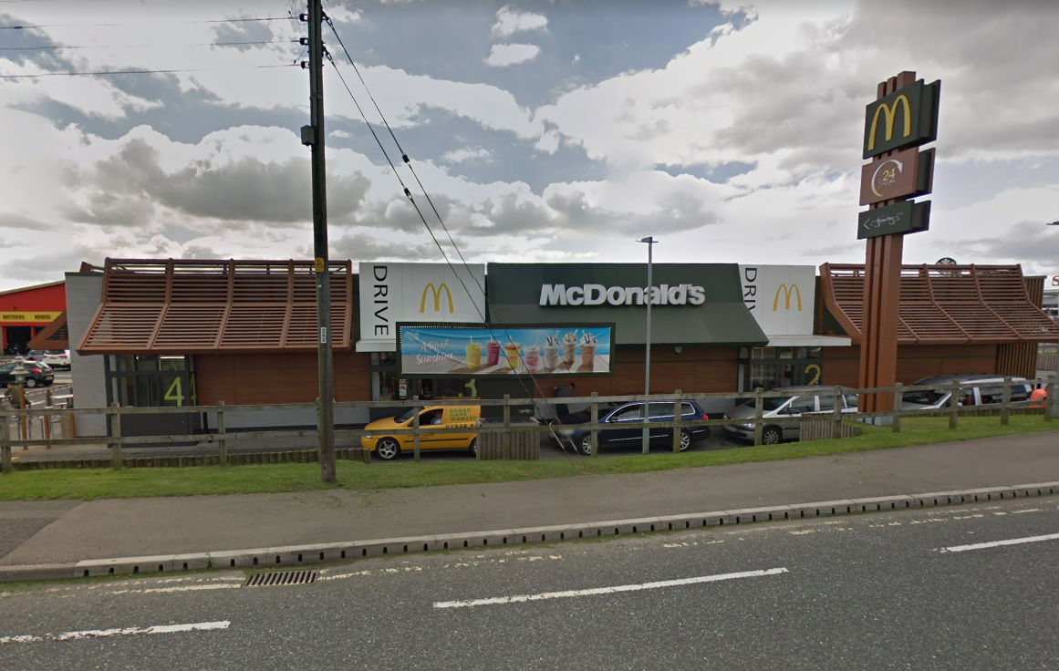 Swales Forest Howard driver refused to give police a drug-drive sample after being pulled over at his local McDonalds. Picture: Google