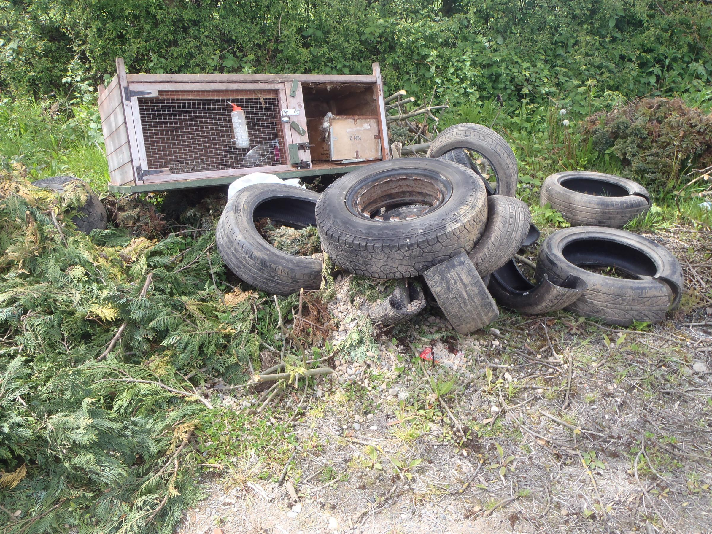 BLIGHT: Fly-tipping is growing problem - and Operation Eyeball is designed to tackle it