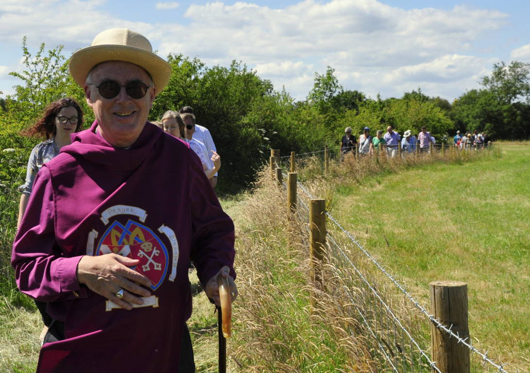 OPEN: The Bishop of Whbitby on the new Goathland Centenary Walk.Picture: D Rowe