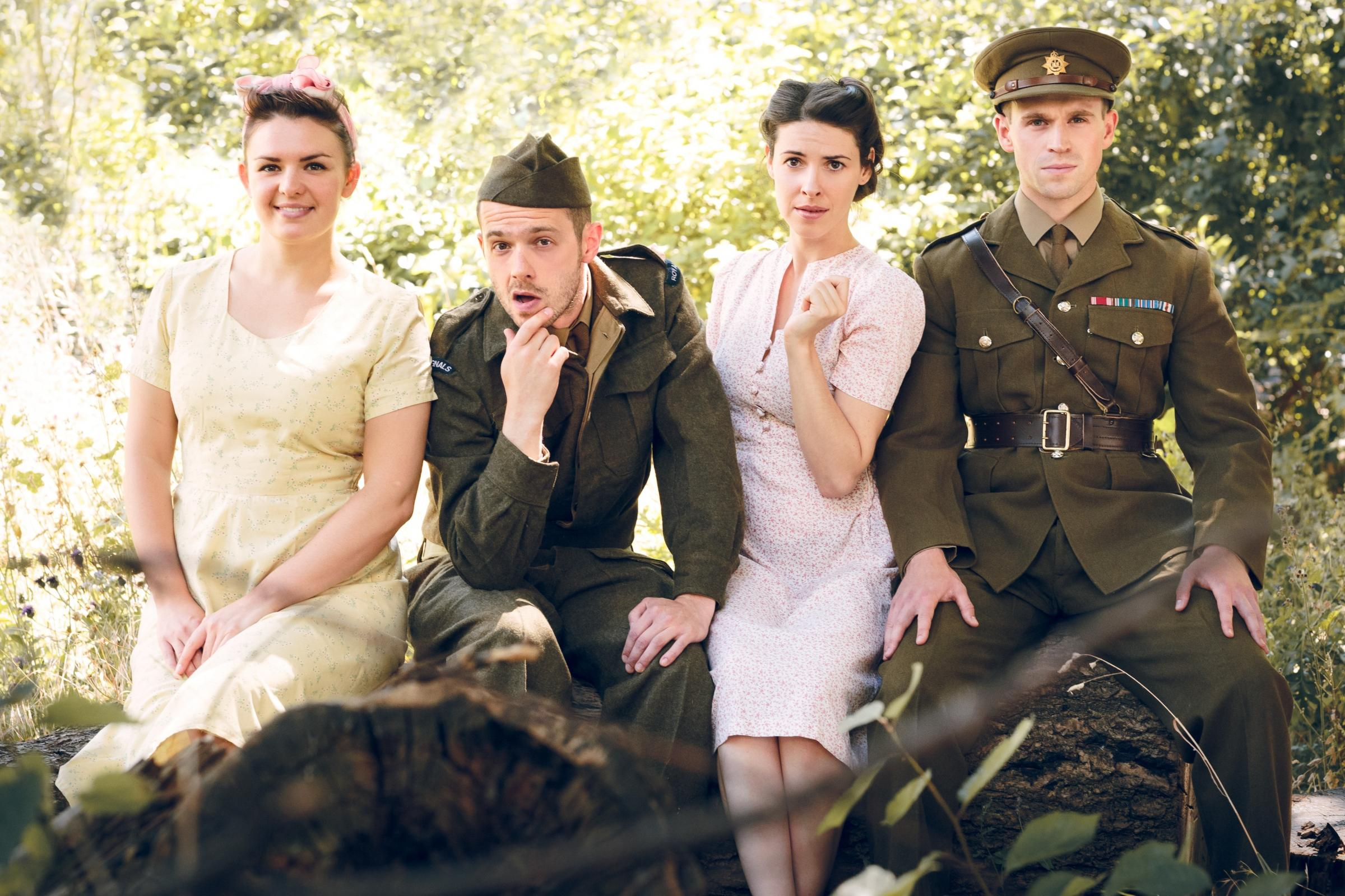TOUR: Molly Miles, Tommy Burgess, Floriane Andersen, Alexander Varey in Much Ado About Nothing Picture: Scott Rylander
