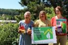 BOOST: Josephine Hayes and Liz Curry from Weardale Foodbank with Claire Maddison from County Durham Housing Group