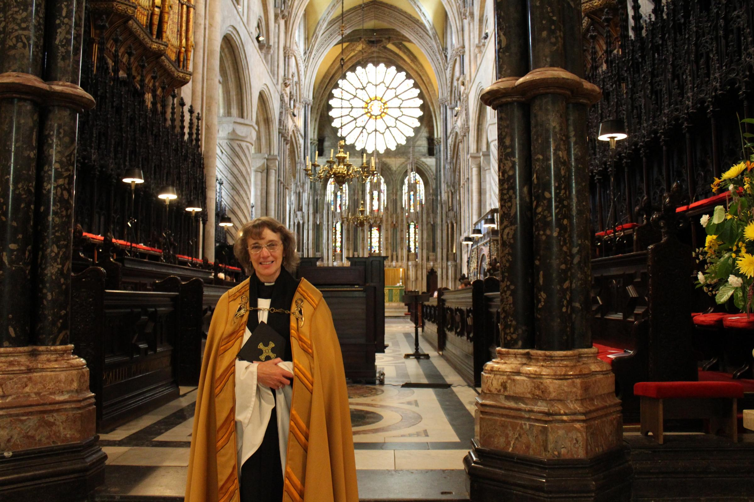 LAST DAY: Canon Rosalind Brown on her final day at Durham Cathedral
