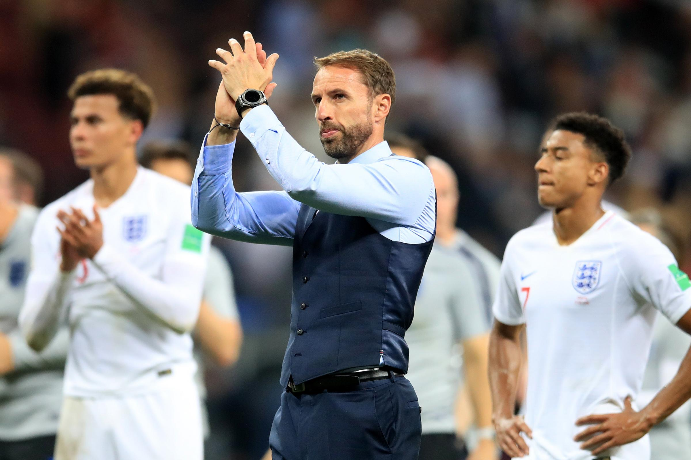 Image result for gareth southgate sad  england world cup