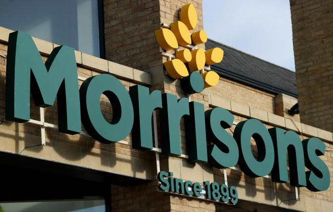 File photo dated 30/09/16 of a Morrisons store. The supermarket chain is trialling vending machines for the return of single-use plastic bottles to reduce their impact on the environment. PRESS ASSOCIATION Photo. Issue date: Thursday July 12, 2018. The tw