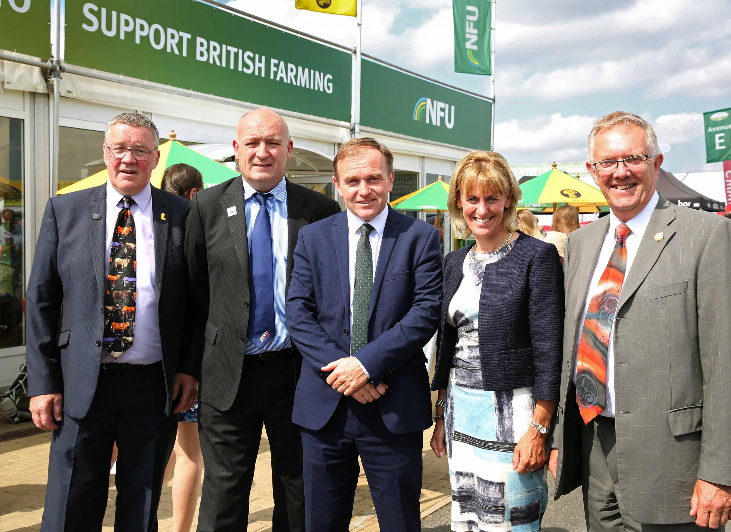FARM-ING: Farming minister George Eustice with NFU presid-ents. Picture: Richard Doughty