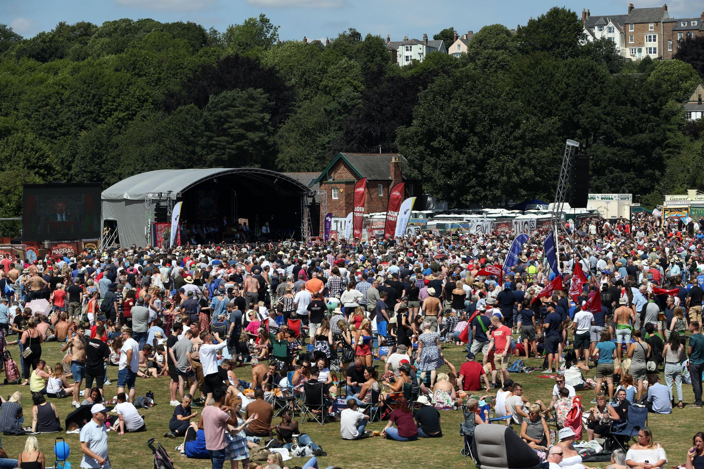 The 134th Miners' Gala takes place in Durham City. Picture: CHRIS BOOTH