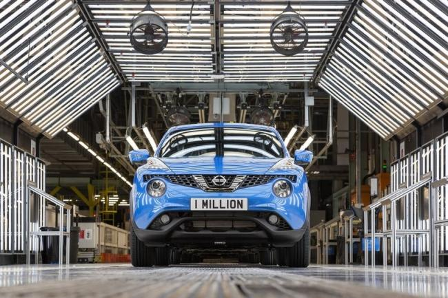 A Juke is built at Nissan Sunderland every 105 seconds
