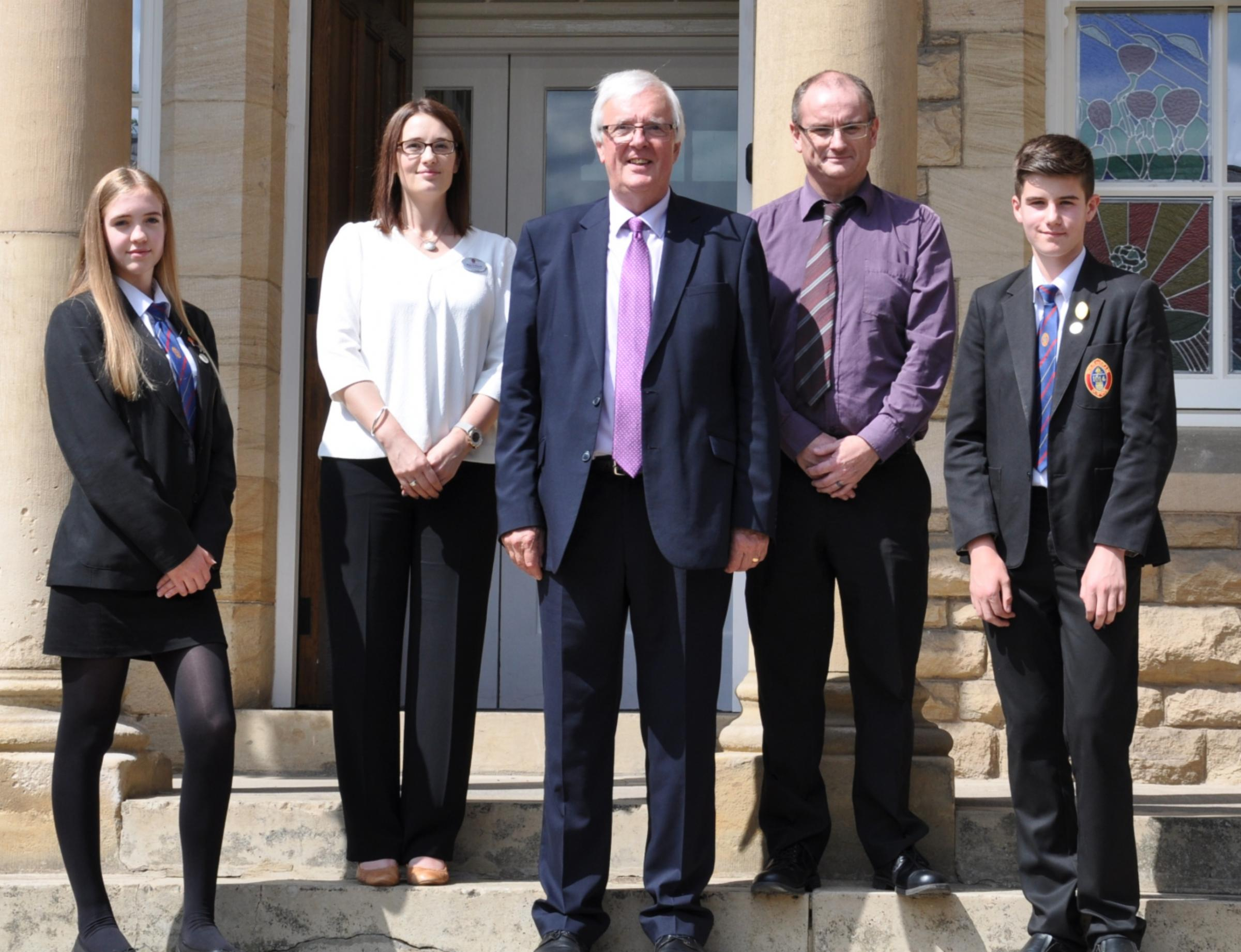 VISIT: Lord Shipley OBE at Wolsingham School