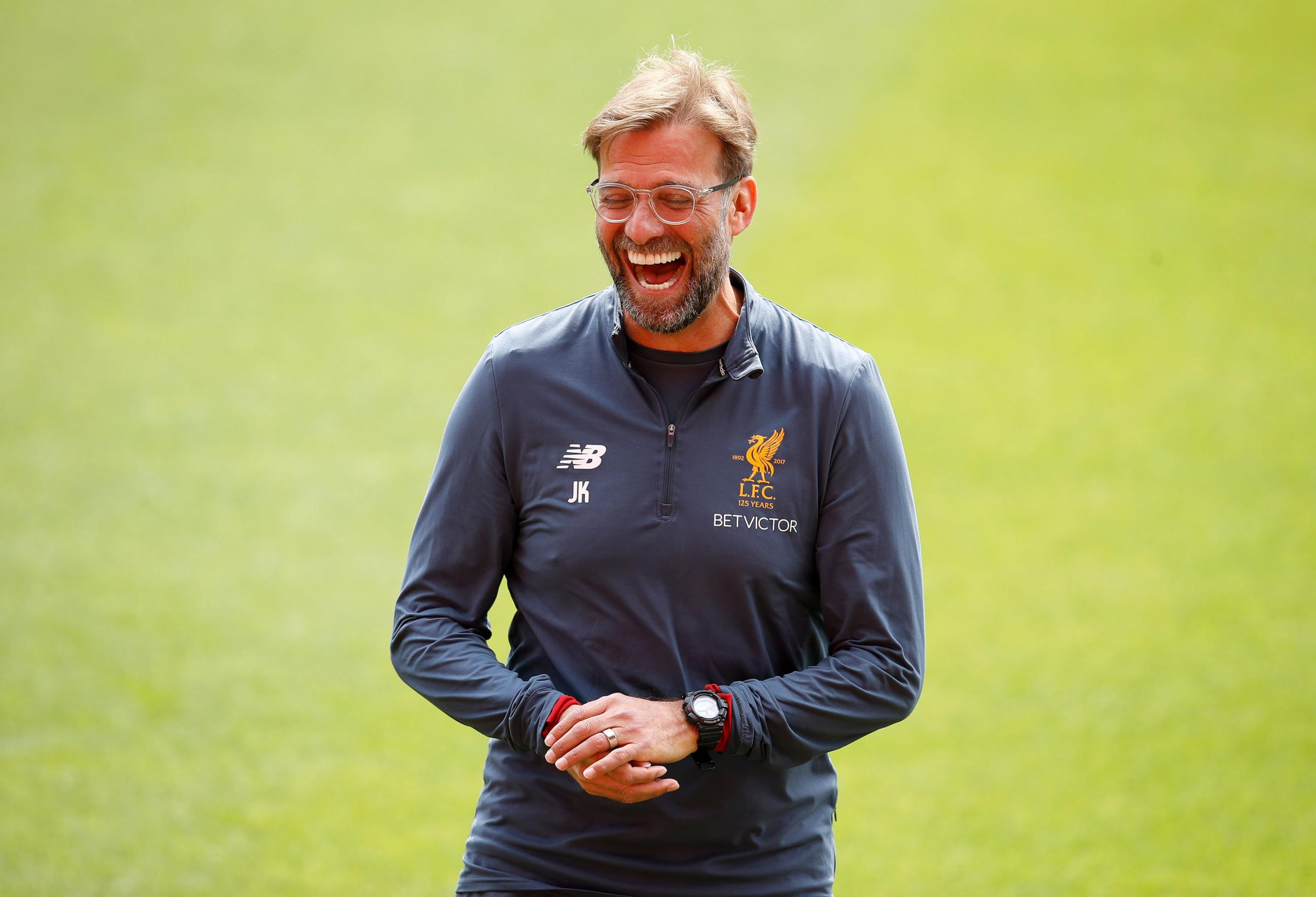 ALL SMILES: Jurgen Klopp has had a successful summer transfer window, with Allison set to be the latest player to move to Anfield