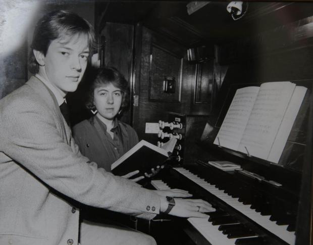 The Northern Echo: MUSICIAN: Neil Hedworth pictured as a young organist. Picture: SARAH CALDECOTT