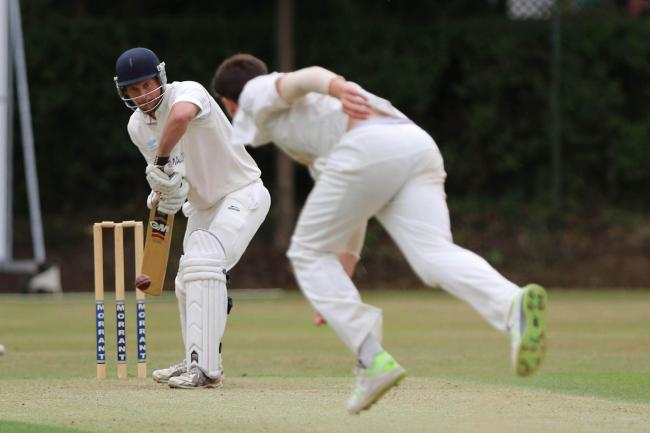 Tyler Temple in action for Hartlepool during the NYSD Premier Division match between Hartlepool Cricket Club and Richmondshire Cricket Club at Park Drive, Hartlepool on Saturday 21st July 2018. (Credit: Harry Cook | MI News & Sport Ltd)
