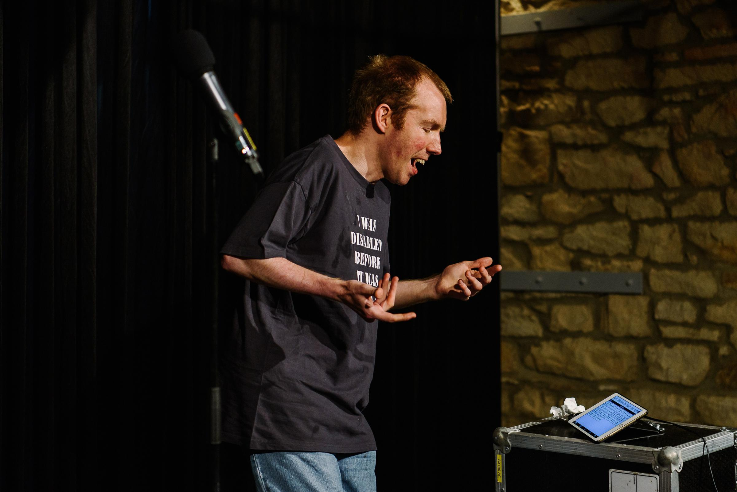 HOME: Lee Ridley, known as The Lost Voice Guy, is coming home for a celebratory gig