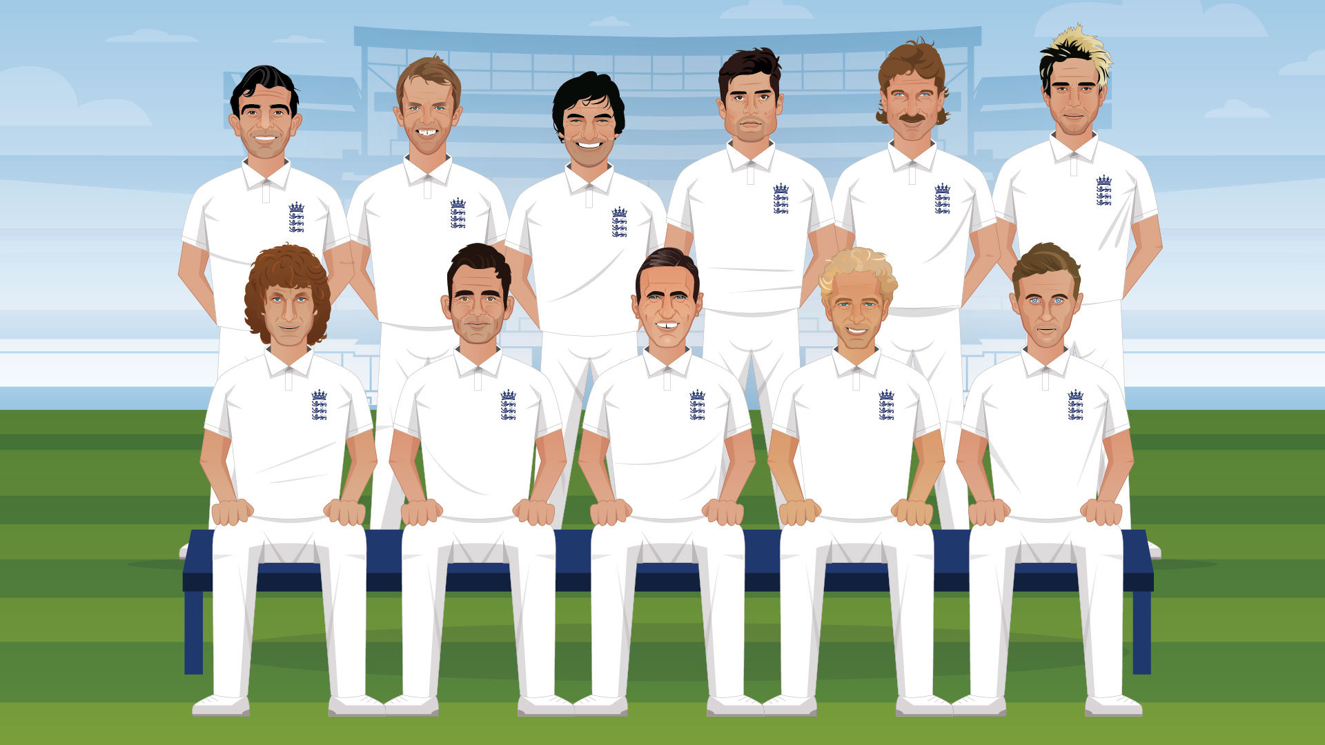 England's all-time Test XI