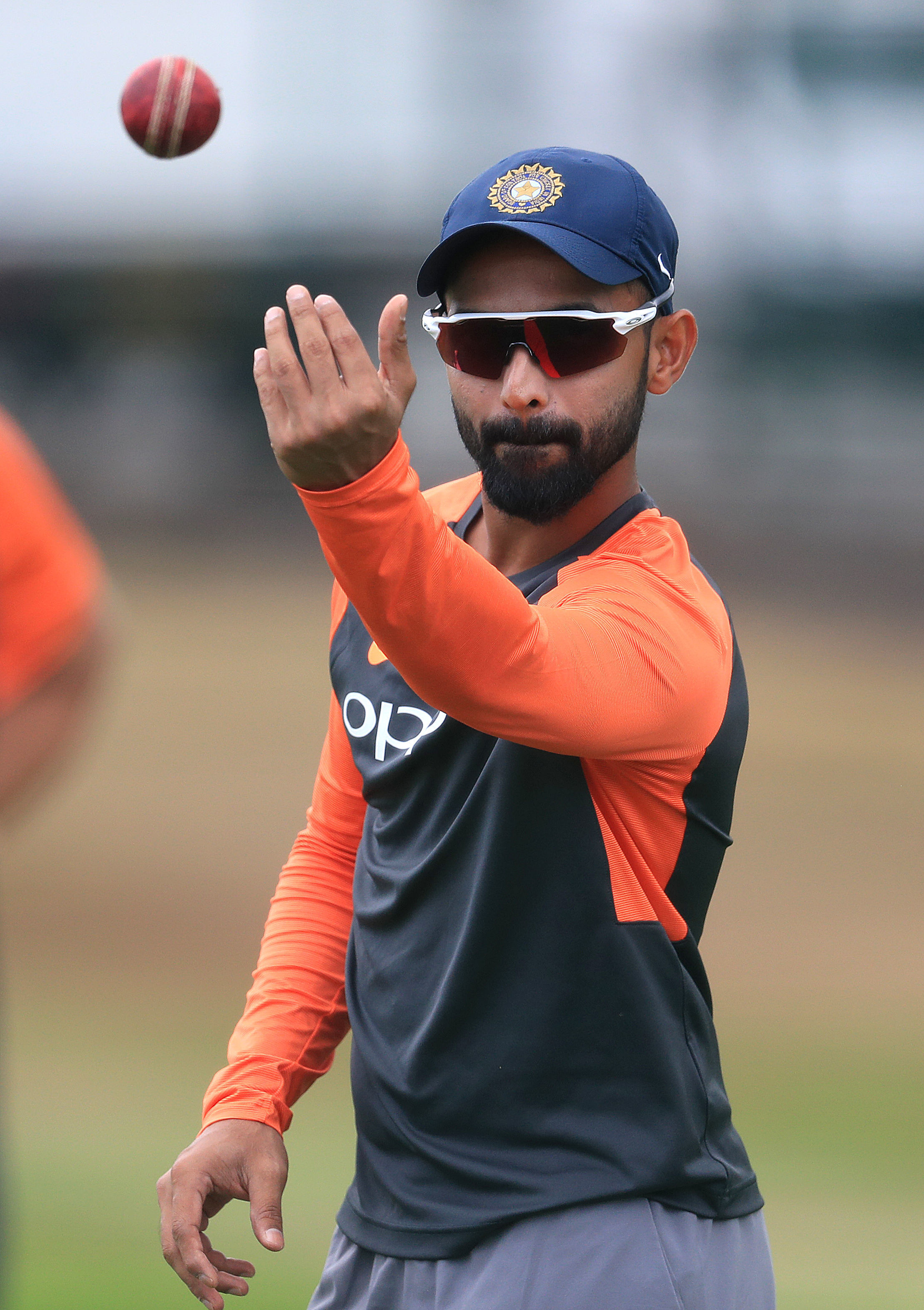 India's Ajinkya Rahane during a nets session at Edgbaston. Picture: PA
