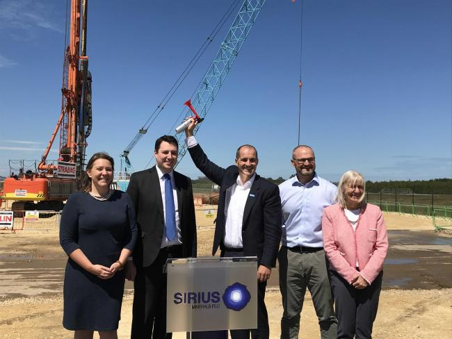 EXPORTS: Northern Powerhouse Minister Jake Berry at Sirius Minerals