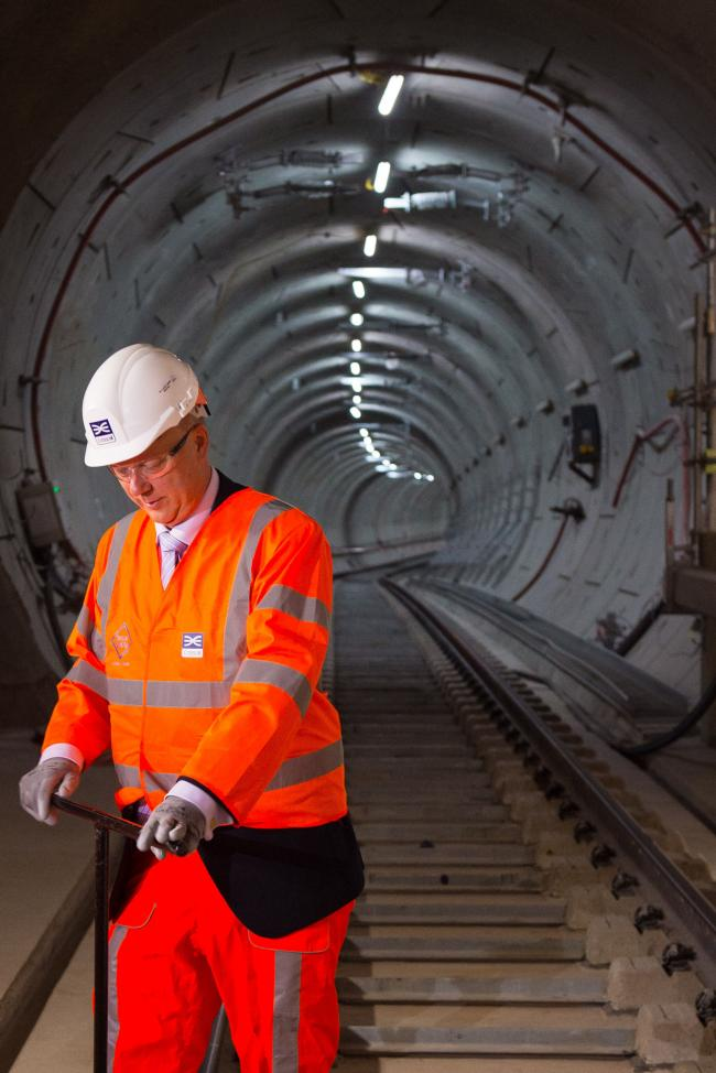 RAIL: Transport Secretary Chris Grayling, pictured on the Crossrail project in east London, has faced a series of controversies