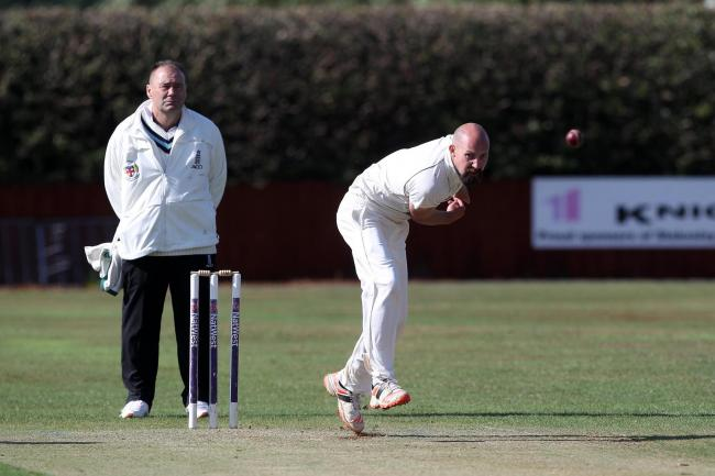 Stokesley's Matthew Smith bowling during the NYSD Premier Division match against Hartlepool last weekend