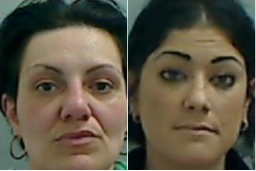 Lois Evans and Emma Storey, were yesterday jailed for imprisoning a man and subjecting him to what a judge described as a