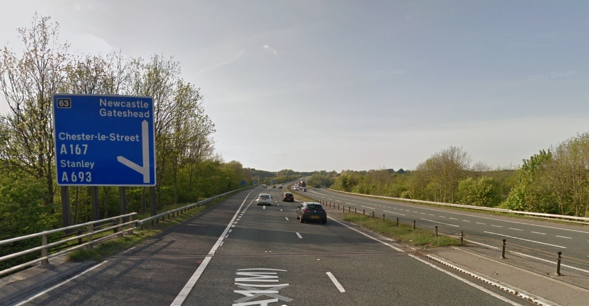 INCIDENT: A bike fell from a car roof rack on the A1 southbound Picture: GOOGLE