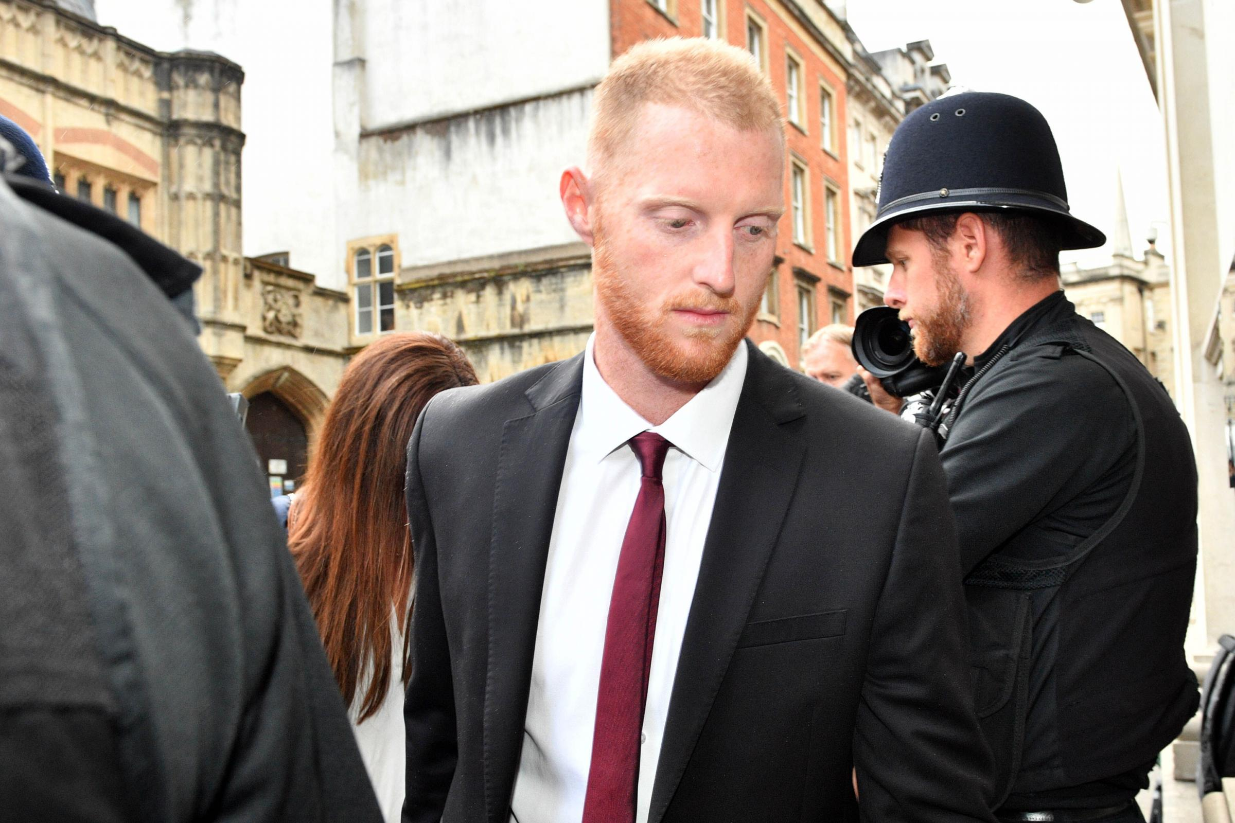 England cricketer Ben Stokes arrives at Bristol Crown Court. Picture: Ben Birchall/PA Wire