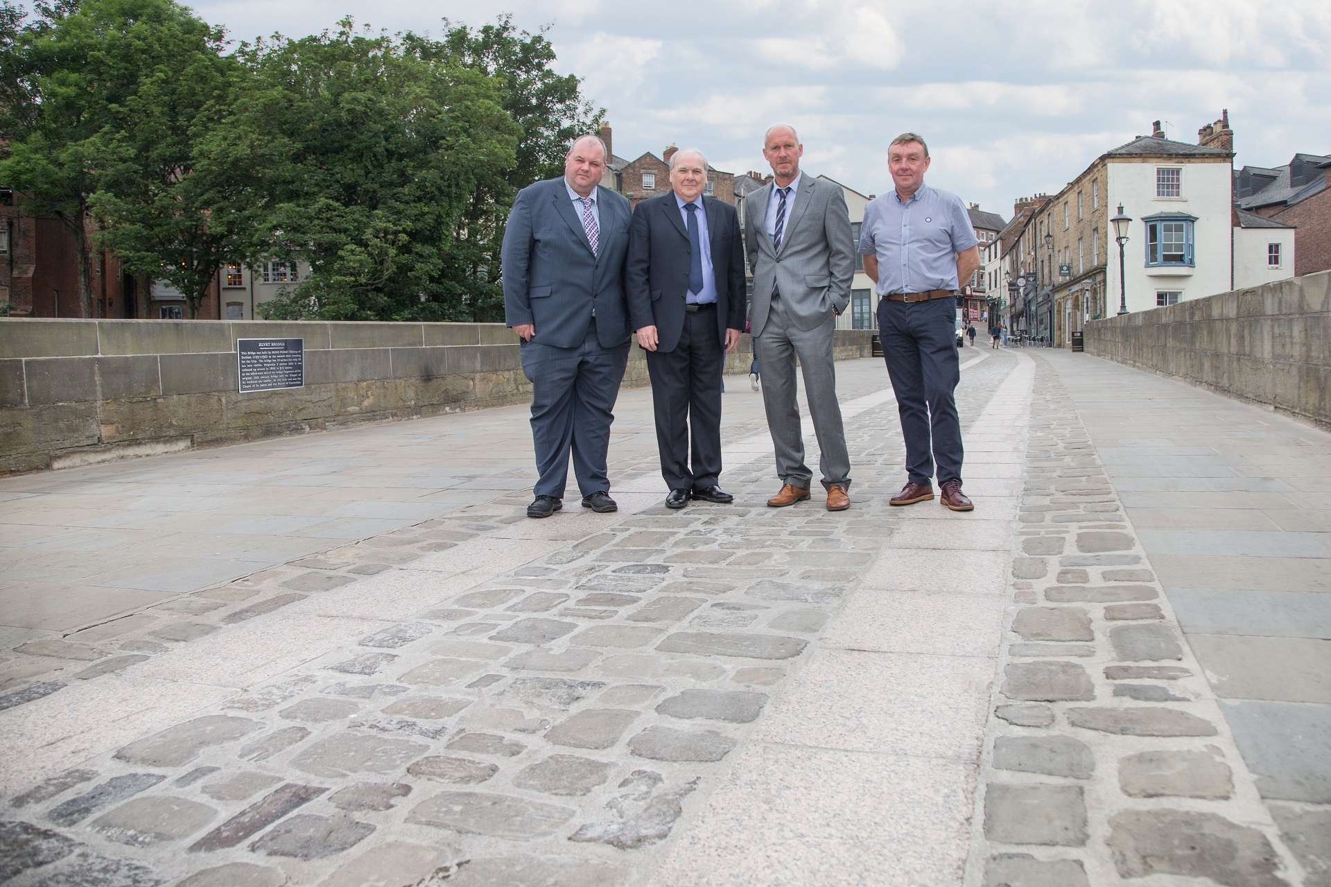 Elvet Bridge, in Durham, has been restored this summer