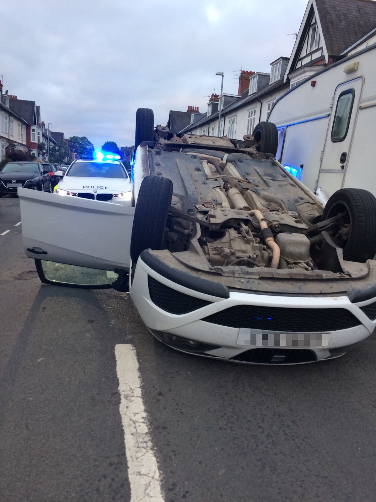 Jacob Gardiner, 18, flipped his car while drink driving just two weeks after passing his test. Picture: DURHAM RPU