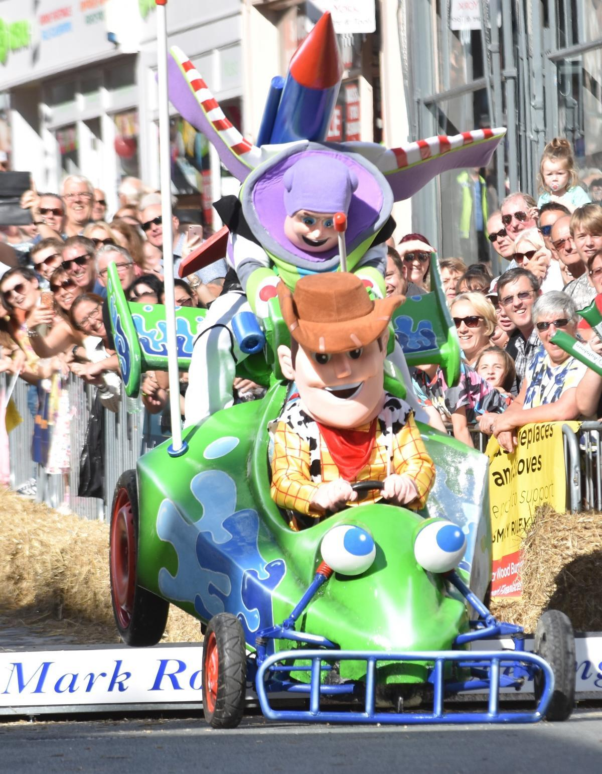 FUN: A Toy Story-themed entrant at last year's Micklegate Run Soapbox Challenge, Picture: Frank Dwyer