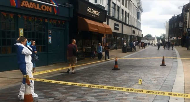 The scene of the incident outside Avalon in Darlington. Picture: Georgia Banks