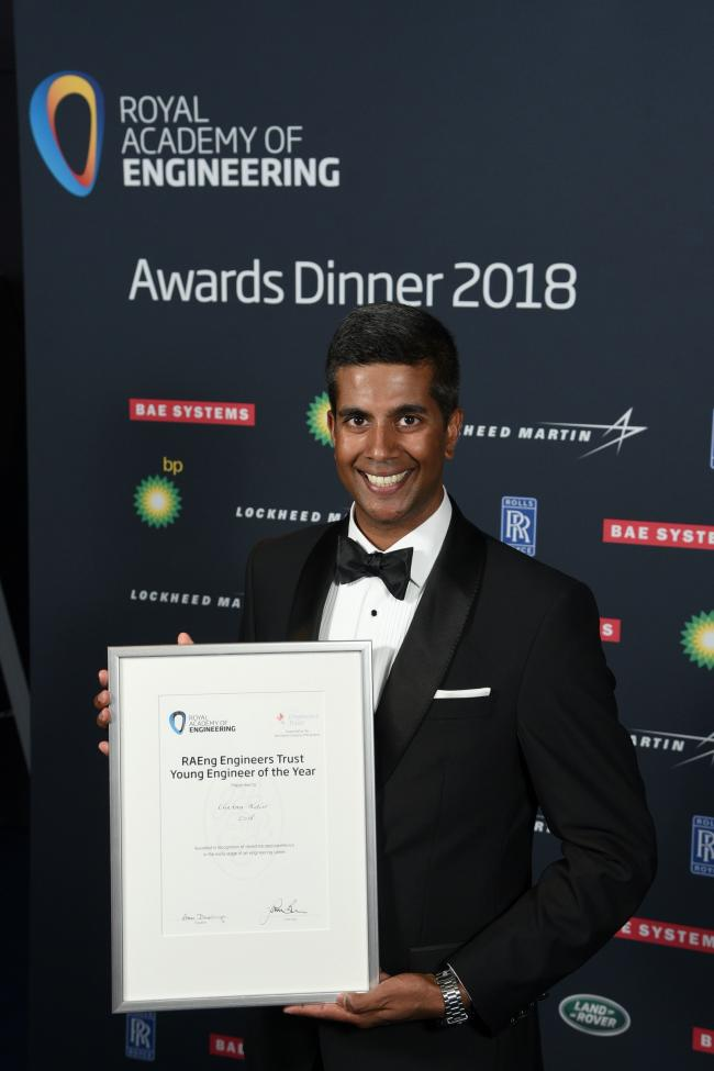 HONOUR: Chetan Kotur, an ex A level student at Queen Elizabeth Sixth Form College in Darlington, is celebrating after being awarded a prestigious accolade by the Royal Academy of Engineering