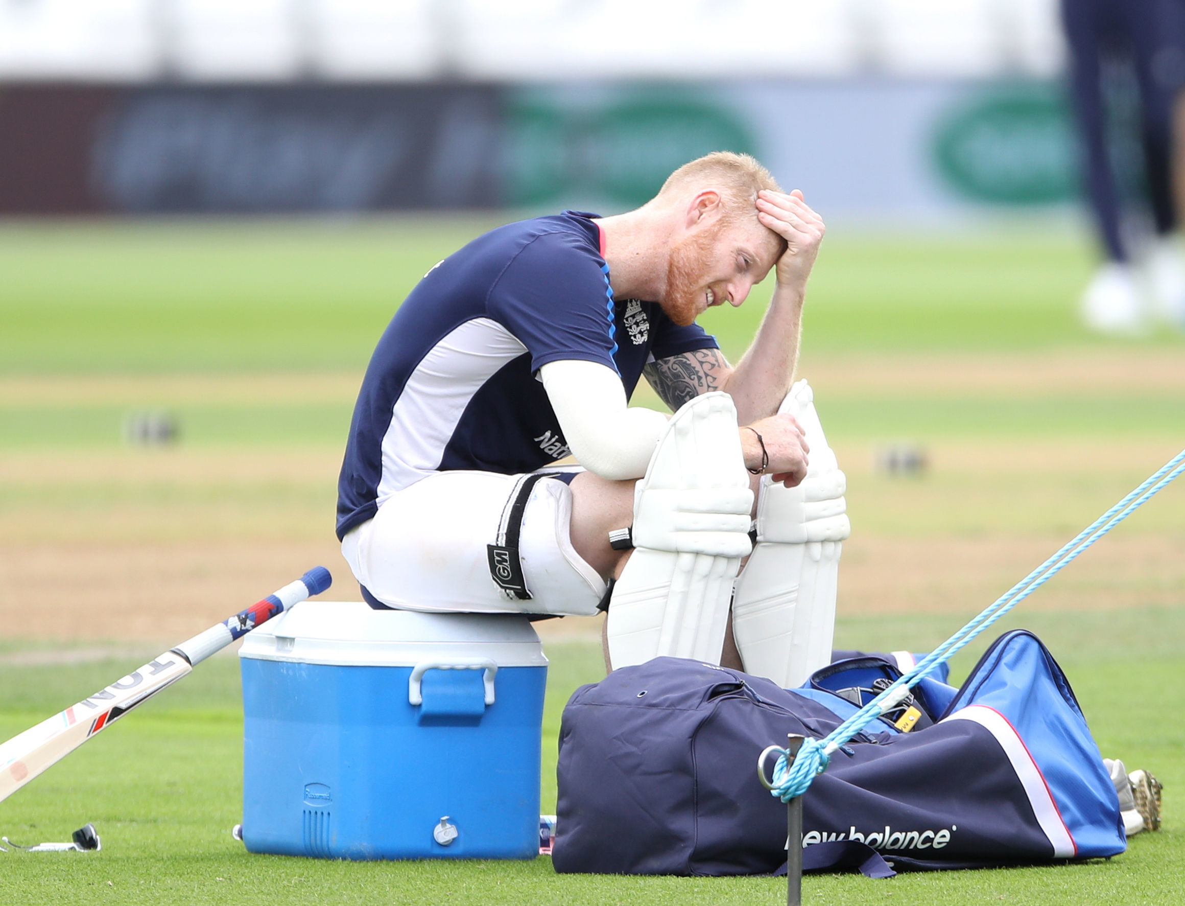 England's Ben Stokes during the nets session at Trent Bridge, Nottingham. Picture: PA