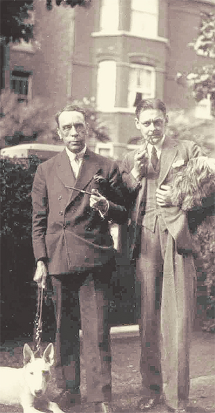 FRIENDS: Ralph Hodgson, left, with TS Eliot, one of the most famous poets of the 20th Century