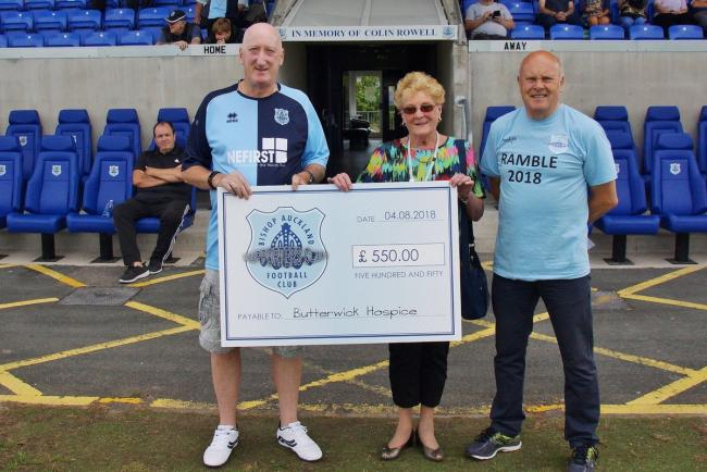 Bishop Auckland Football Club Supporters Boost Hospice Funds
