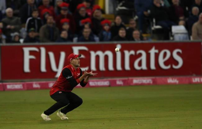 Quarter final of the Vitality Blast Twenty20 competiton at the Emirates Riverside stadium, Chester le Street between Durham Jets and Sussex Sharks. Ryan Davies takes the catch of Luke Wright off the bowling of Mark Wood. Picture: CHRIS BOOTH