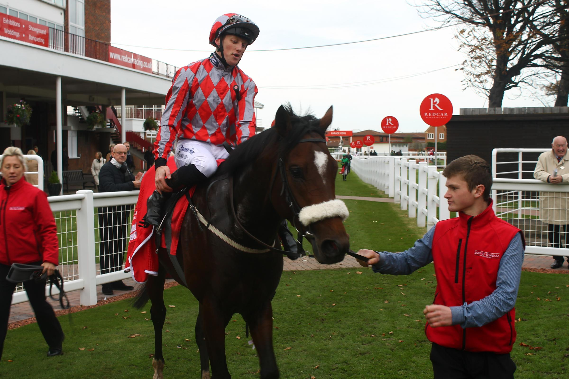 Phillip Makin on Redician which won at Redcar in October 2017