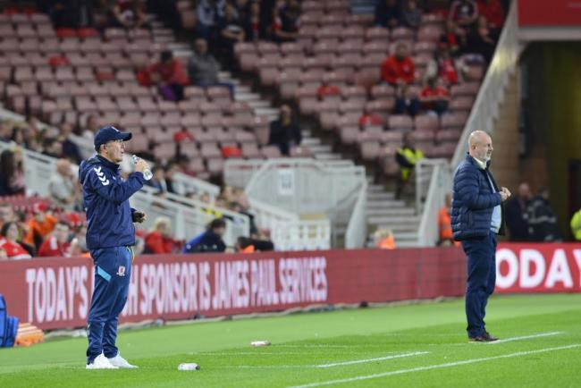 TRANSFER HOPES: Tony Pulis watched his Middlesbrough side claim a Carabao Cup win over Rochdale (Picture: Tom Collins/MI News & Sport)