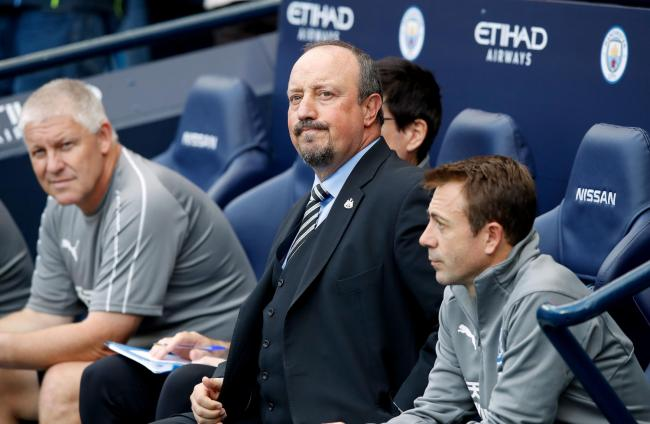 PLENTY TO PONDER: Rafael Benitez watched his Newcastle United side crash to a 2-1 defeat to Manchester City (Picture: Martin Rickett/PA Wire)