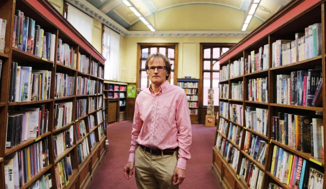Stephen Harker inside Darlington Library Picture: SARAH CALDECOTT.