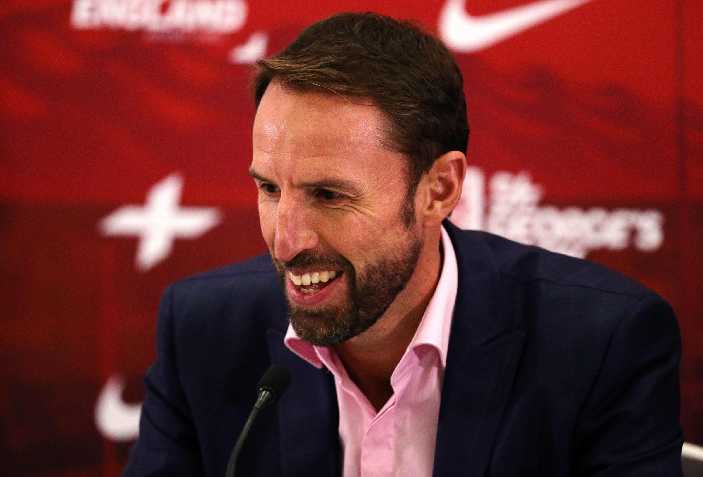 England Manager Gareth Southgate during the press conference at St George's Park, Burton. PRESS ASSOCIATION Photo. Picture date: Thursday August 30, 2018. See PA story SOCCER England. Photo credit should read: Aaron Chown/PA Wire, RESTRICTIONS: Use su
