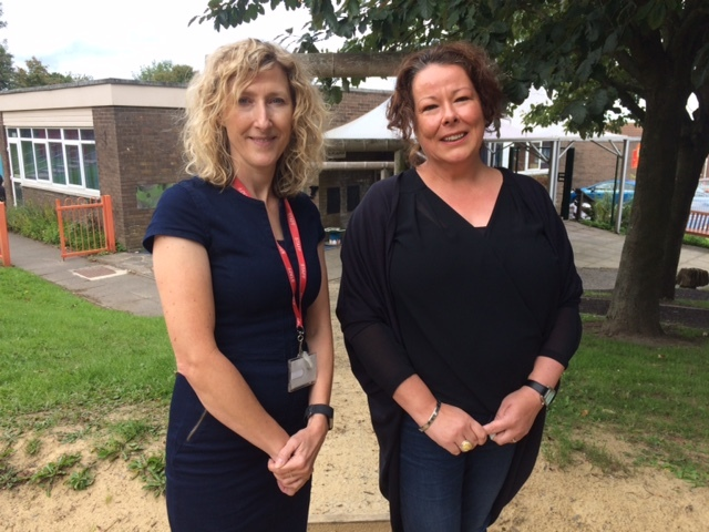 DETERMINED: Alison Spence, headteacher of Castleside Primary School, with Julie Tyers, vice-chairman of the school governing body. Picture: GAVIN HAVERY