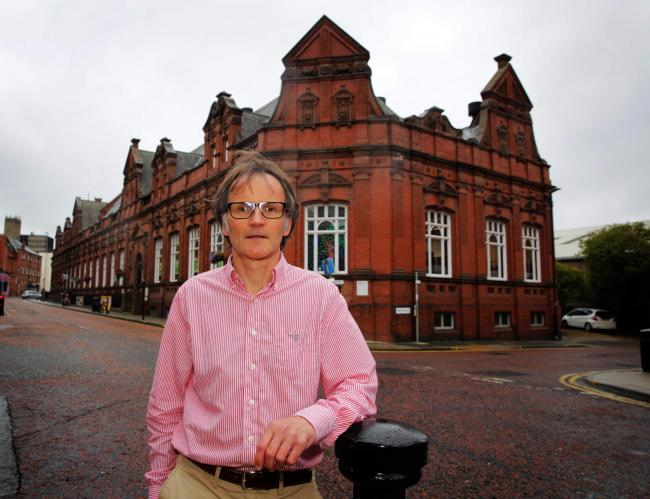 Council leader Stephen Harker outside Darlington Library. Picture: SARAH CALDECOTT