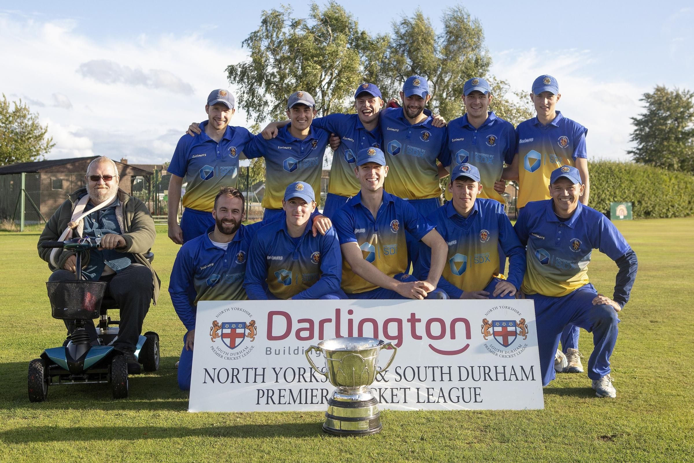Richmondshire after winning the Kerridge Cup after beating Middlesbrough at Farndale Avenue, Northallerton on Sunday 9th September 2018. (Credit: Mark Fletcher | MI News & Sport Ltd)