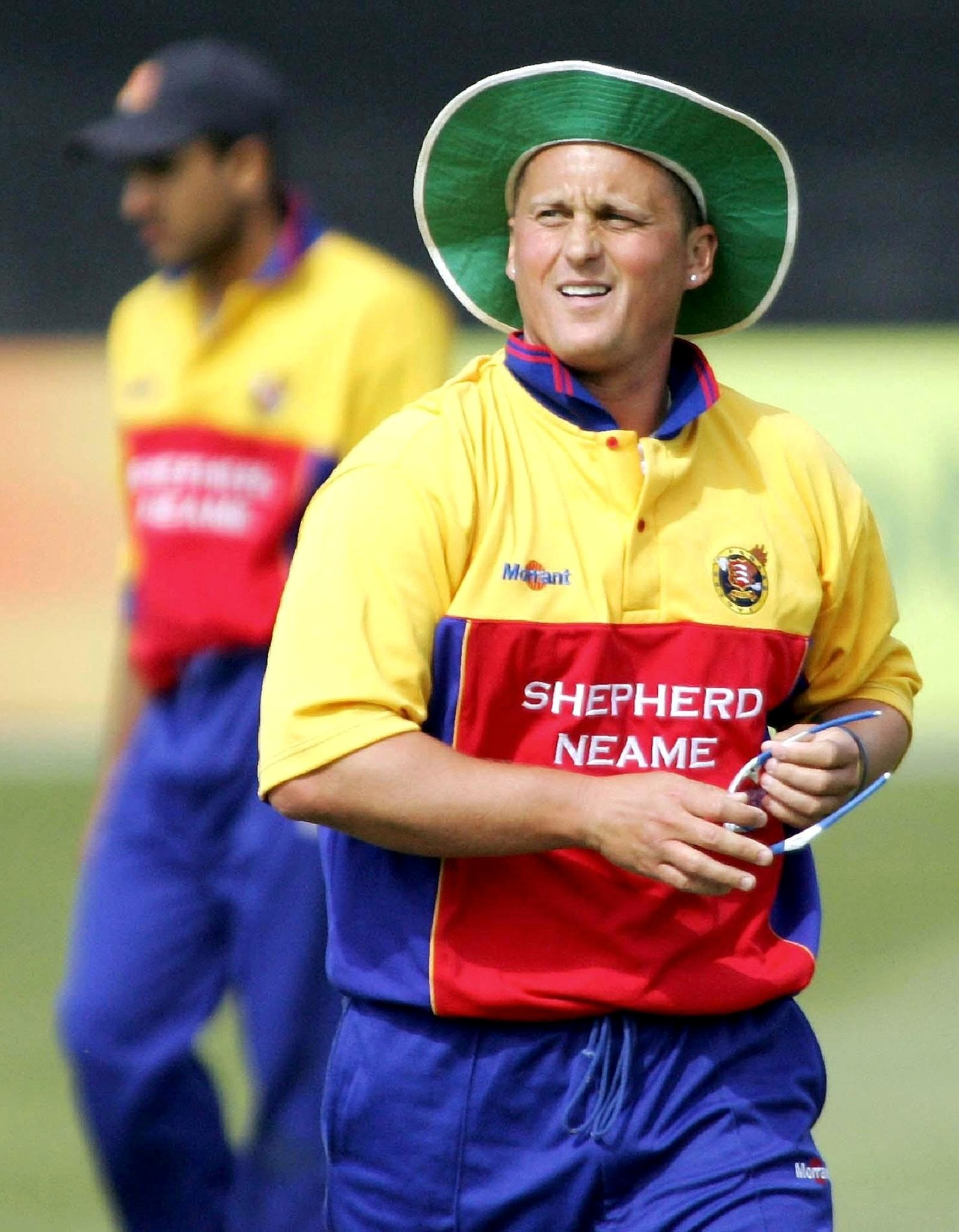 PA library file dated 15/05/05 of Essex pace bowler Darren Gough during their Division One match against Glamorgan. Gough believes a wage cap for overseas players would benefit the county game, Wednesday January 18, 2006. The 35-year-old Yorkshireman, who