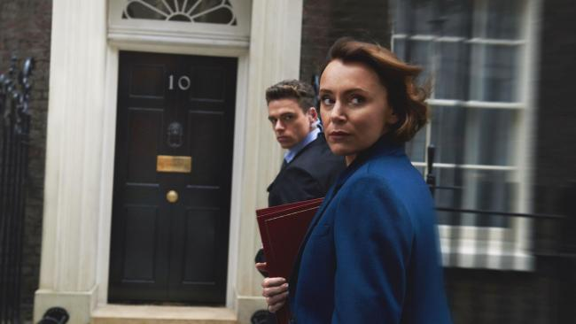 Richard Madden and Keeley Hawes in Bodyguard. Picture: BBC