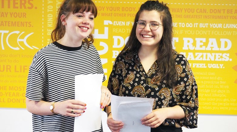 AWARDS: Scarlett Ballantine and Sadie Askwith with their awards